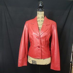 i.e. Red Leather Jacket (matching gloves listed)